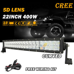 5d 22inch 280w Cree Curved Led Light Bar Spot Flood Offroad 4wd Truck Atv 20 24
