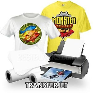 Inkjet Iron on Heat Transfer Paper For Lights 100 Transferjet Tj 8