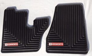 Kenworth Oem Black Rubber Floor Mats W Red Logo Fits 2005 17 T600 660 W900 C500