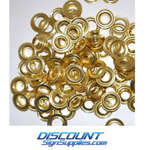 Stimpson 2 Self piercing Grommets brass Box Of 500 Washers 500 Grommets