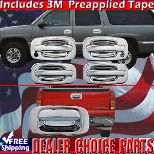 1999 2006 Chevy Silverado Sierra Chrome Door Handle Covers W Psk Tailgate Cover