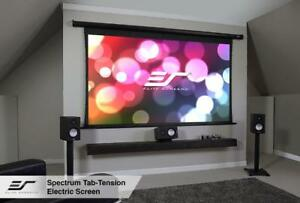 Elite Screens Electric125ht Spectrum Tab tension Series 125 Projection Screen