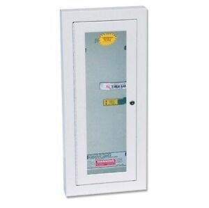 Kidde 468046 Potter Roemer Semi recessed 5 pound Fire Extinguisher Cabinet