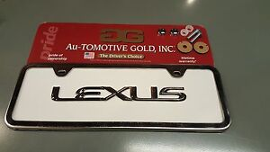 Lexus Chrome White Mini Half License Plate Frame Raised Ls460 Gs350 Is250 Isf
