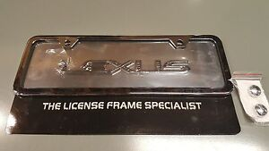 Lexus Black Chrome Mini Half Size License Plate Frame Raised Gs300 Ls430 Sc430