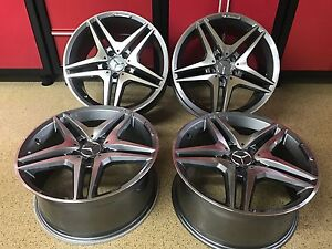 Mercedes 19 In Gunmetal Wheels Rims New Set4 Cls500 Cls550 Cls55 Cls400 Cls Amg