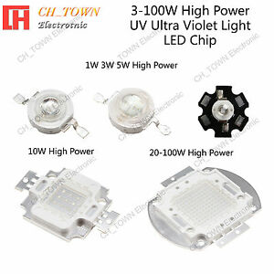 3w 5w 10w 20w 30w 50w 100w Uv Ultra Violet High Power Led Chip Light Usa Seller