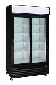 Kool it Ksm 36 Commercial 2 door Glass Refrigerator Display Cooler Merchandiser
