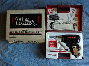 Vintage Usa Weller 8200 Pk Soldering Kit Dual Heat 100 140 Watt In Original Box
