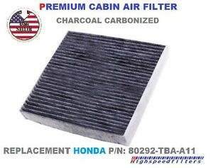 Charcoal Carbon Cabin Air Filter For 2016 2017 2018 2020 Honda Civic 1 5l 2 0l