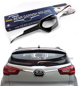 Rear Garnish Chrome Black Trunk Molding For Kia Sportage 2011 2013