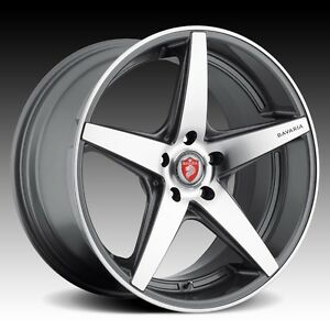 20 Staggered Wheels Rims For Bmw 5 6 And 7 Series Hyper Silver Machined