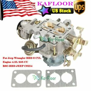 For Jeep Wagoneer Carburetor Bbd 6 Cyl 4 2l 258cu Engine Amc Cj5 Cj7 2 barrel Us
