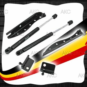 Black Finish Hood Struts Lift Kit For 2005 2013 Ford Mustang