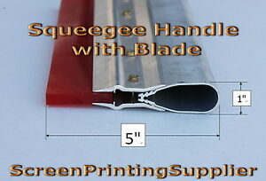 6 Screen Printing Squeegee aluminum Handle With 70 Single Duro Blade