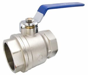 3 Nickel Plated Brass Ball Valve Full Port 600wog
