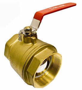 4 Brass Ball Valve Full Port 600wog W red Handle