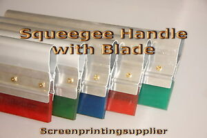 10 Screen Printing Squeegee aluminum Handle With 70 Single Duro Blade