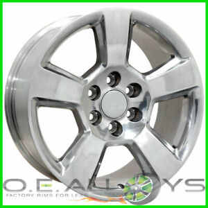 20 Chevy Silverado Polished Suburban Tahoe Ltz Avalanch Oem Wheels Rims 4 New