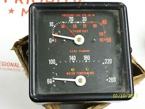 U s Gauge 19721 Altitude Feet A s m e Standard Water Temperature Indicator