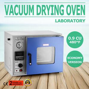 0 9 Cu Ft 480 f Lab Vacuum Air Convection Drying Oven Lcd Display
