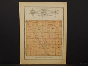 Minnesota Grant County Map 1914 Township Of Gorton Y1 02