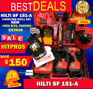 Hilti Sf 151 a Cordless Drill Set New Free Bits Thermo Extras Fast Ship
