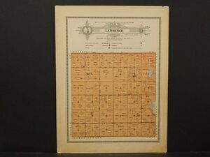 Minnesota Grant County Map 1914 Township Of Lawrence Y1 13