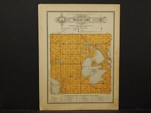 Minnesota Grant County Map 1914 Township Of Pelican Lake Y1 16