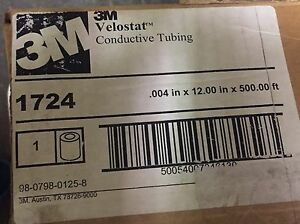 3m 1724 Velostat Conductive Tubing 0 004in X 12in X 500ft
