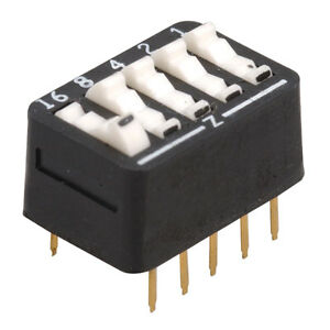 Arndt 206 517 Dip Switch 5 position Standard Rocker Raised 50 Pcs