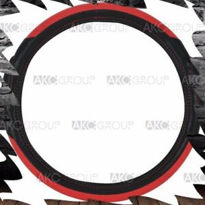 High Quality Racing Style Steering Wheel Cover Red Black For Univ Standard Fit