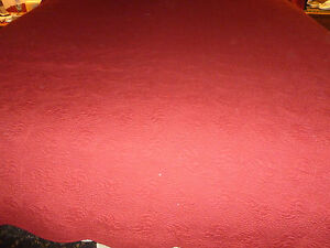 Vtg Bed Coverlet Throw In The Country Red 80 X 92