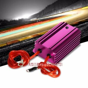 Purple Universal High Efficiency Car Voltage Battery Cable Stabilizer Regulator
