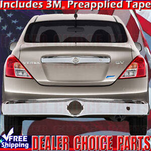 For 2012 2019 Nissan Versa Chrome Tailgate Accent Cover Overlay Trim W key Hole