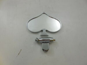 Polished Aluminum Universal Rear View Interior Mirror Poker Spade Style Hot Rod