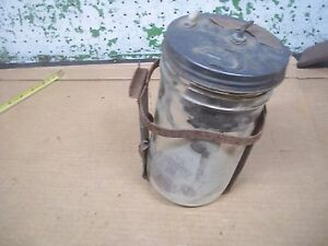Old Vintage Trico Vacuum Washer Pump Lid Glass Jar Bracket Ford Chevy Chrysler