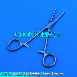 Titanium Tube Occluding Clamp Forceps 6 Serrated Surgical Instruments