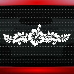 Hibiscus 5 Hawaiian Flower Cute Car Decal Window Sticker Aloha 20 Colors