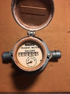 3 4 Neptune Water Meter Trident Readout In Gallons Schlumberger