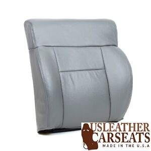 2006 Ford F150 Lariat Driver Side Top Lean Back Leather Seat Cover Gray