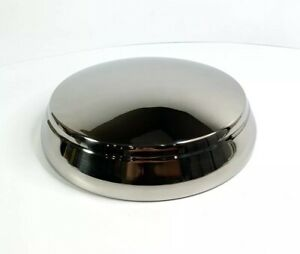 New 1950 Mercury Polished Stainless Steel Hub Poverty Center Cap Set Of 4