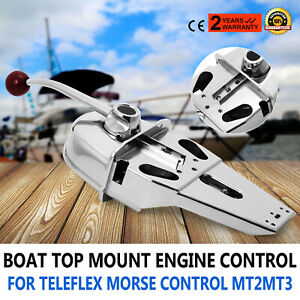 Marine Boat Engine Controller Top Mount Box Throttle Lever Built in Friction