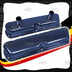 Painted Blue Circle Track Racing Valve Covers For 62 85 Ford Sb 260 289 302 351w