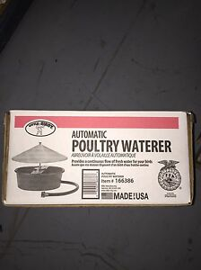Little Giant Poultry Waterer Automatic Float Controls Level Continuous Standard