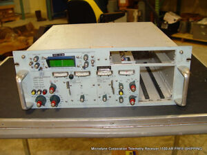 Used Microdyne Corporation Telemetry Receiver 1100 ar Free Shipping