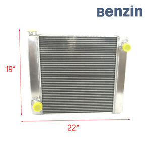 New Universal Fabricated Aluminum Racing Radiator Ford mopar 22 X 19 X 3