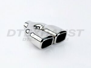 Dt 24022dl Dual Square Double Wall Stainless Exhaust Tip 2 25 Inlet