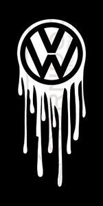 Dripping Vw Vinyl Sticker Decal Vw Volkswagen Gti Jetta Golf Beetle Bug Bus