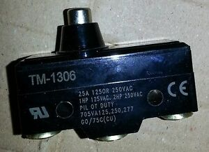 15a Limit Switch Tm 1306 Micro Switch Fit Ridgid 300 Threader Foot Pedal 36762